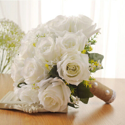 Matrimonio Sposa Bouquet da sposa Decor Fiore artificiale floreale 28 x 26