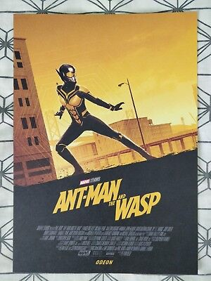 Marvel Ant-Man And The Wasp ODEON A4 Sized Poster 2 (Antman Ant Man)