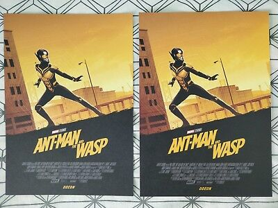 2x Marvel Ant-Man And The Wasp ODEON A4 Sized Poster 2 (Antman Ant Man)