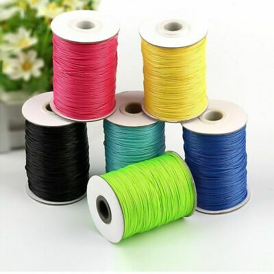 1mm 15/150 meters Wax Beading Round Cord Velvet Lace Polyester Waxed Rope Crafts