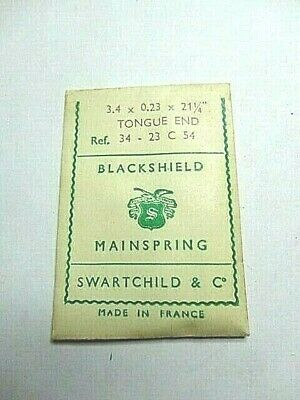 """BLACKSHIELD Clock Mainspring 4x0.30x28 1/2"""" OPEN LOOP END Made in France New"""