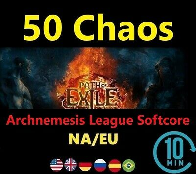 50 Chaos Orb - Synthesis League Softcore (Path of Exile EU/NA/UK POE) SC 50c
