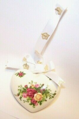 Royal Albert Old Country Roses Heart Christmas Holiday ornament NEW >NO BOX!