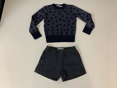 Bonpoint Suit Outfit Set Jumper & Shorts Size 36m Age 3 Years Vgc