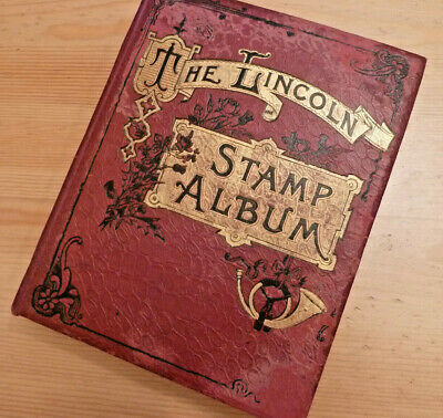 Worldwide Early Stamp Collection, Old Time Lincoln Album, Original Lot - 152 Pic