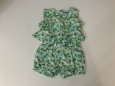 Mayoral Baby Girls Outfit, Set, White & Green Age 3 Months, VGC