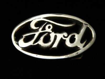 PF21169 VINTAGE 1970s **FORD** MOTOR COMPANY SOLID BRASS BARON BELT BUCKLE