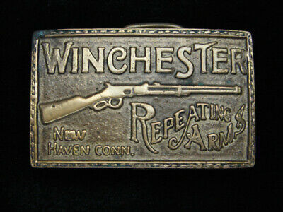 QL11134 VINTAGE 1970s **WINCHESTER REPEATING ARMS** SOLID BRASS BARON BUCKLE