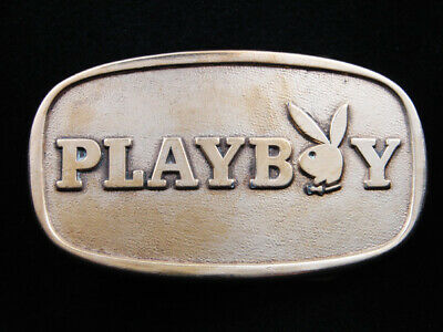 RH09119 VINTAGE 1970s **PLAYBOY** ADVERTISEMENT BELT BUCKLE'