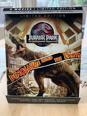 Jurassic Park Trilogy - (4K UHD. BLU-RAY) Lmt Ed OOP Discs Never Removed No Dig