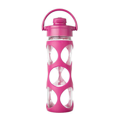 Lifefactory 16oz Glass Bottle with Active Flip Top Cap and Silicone Sleeve - Hot