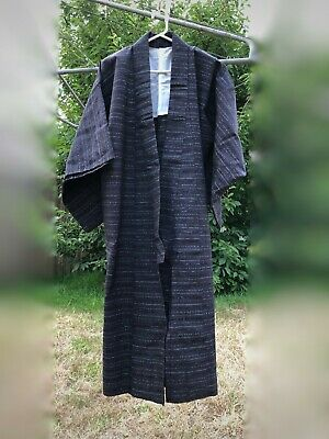 Men's Japanese Yukata/Kimono Authentic Beautifully Hand Stitched BROWN Pattern