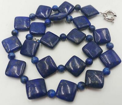 Natural 6-14mm Blue Lapis Lazuli Gemstone Beads Necklace 18 Inches