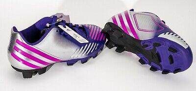 93ceb4d636447 ADIDAS CHILDREN'S/GIRLS SOCCER cleats.New size 10 1/2-5 1/2. Silver ...