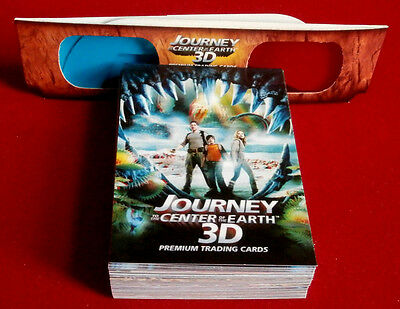JOURNEY TO THE CENTER OF THE EARTH - 3D - Complete Base Set, 50 Cards, Inkworks