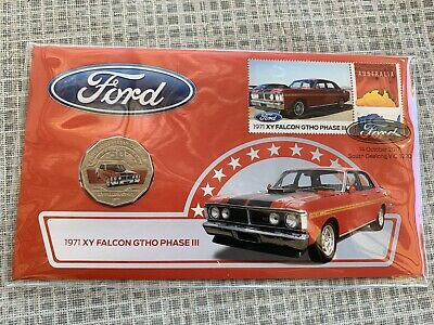 2017 Ford Australian 50c Coin - PNC Stamp & Coin Cover - XY Falcon GTHO Phase 3
