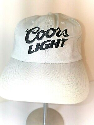 911bbbe29465a Coors Light Beer SnapBack Baseball Cap Hat Embroidered Adjustable Tan Snap  Back