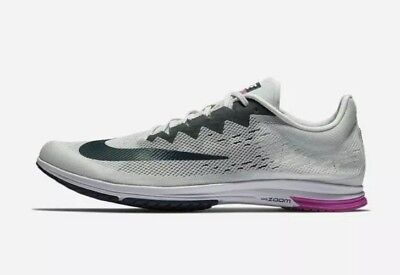 dfd4aabe8b3 Nike Zoom Streak LT 4 Running Shoes 924514-005 Men s US 10 Grey Fuchsia NEW