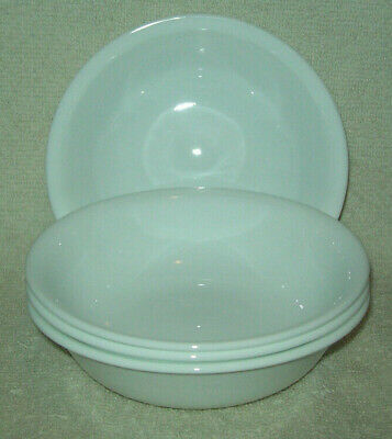 Corning Corelle Livingware Winter Frost White Set of 4 Fruit/Dessert/Sauce Bowls