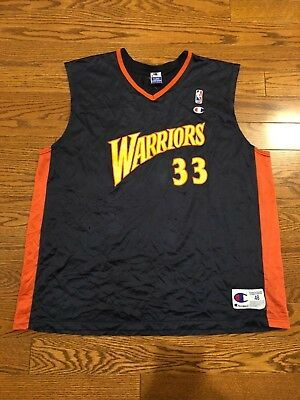 5332b2286 RARE Vintage Champion Golden State Warriors Antawn Jamison Jersey Men s 48  XL