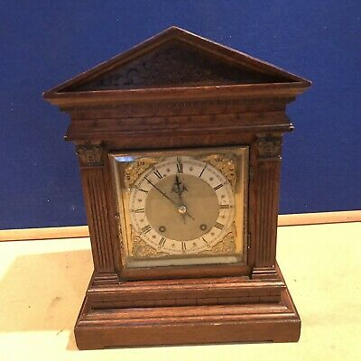 bracket clock Oak Cased W & H Superb