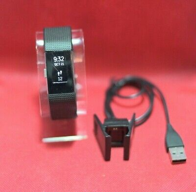 Fitbit Charge 2 Activity Tracker Black Sizes Small/Large ( C & D Grade)
