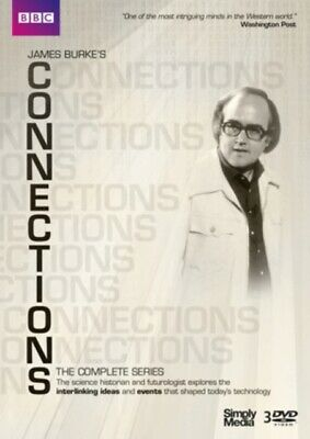 James Burke's Connections (DVD 3 DISC BOX SET, 1978) *NEW/SEALED* FREE P&P