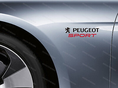 2 x Peugeot Sport Stickers for Wings 207 208 306 307 308 2008 3008 Emblem Logo