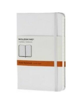 Moleskine Classic Notebook - White Ruled Pocket (9x14cm) Hard Cover - RRP$24.95