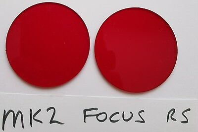 Ford Focus Rs Mk2 Red Translucent Acrylic Foglight Protectors