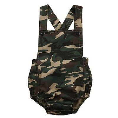 Camouflage Summer Cotton Baby Boy Girls Bodysuit Jumpsuit Kids Clothes Outfits