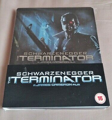 The Terminator Blu Ray Steelbook UK Play.com Rare (DEFAUTS)