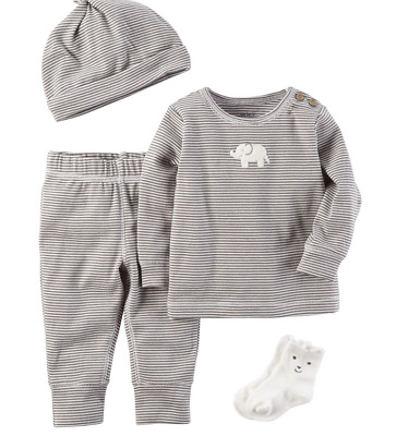df2be46ed6edc Carters Baby Boy Clothes 6 9 Months 4-Piece Babysoft Take-Me-Home