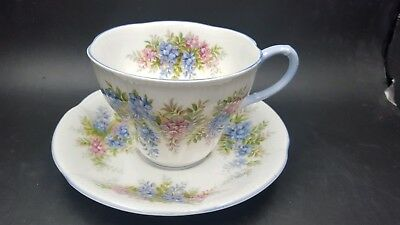 Royal Albert Blossom Time Series Wisteria Vintage Tea Cup & Saucer Set