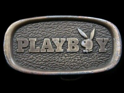 RL03138 VINTAGE 1970s **PLAYBOY** MAGAZINE ADVERTISEMENT BELT BUCKLE