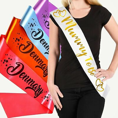Personalised Birthday Sash Hen Party Sashes 16th,18th,21st,30th,40th - ANY TEXT