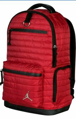 9d3189ac0339 Air Jordan Jumpman Quilted Backpack Laptop Storage Gym Red Black Bred  9A1820 R78
