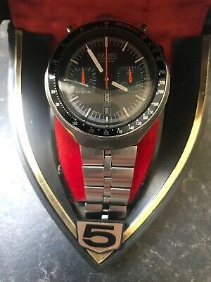 Rare Vintage Seiko 6138-0040 Bull Head Day Date Chronograph Automatic Watch