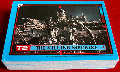 TERMINATOR - JUDGMENT DAY - T2 - COMPLETE BASE SET (44 Cards) - Topps (UK) 1991
