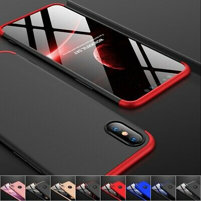 Handyhülle für iPhone X Xs XR Xs Max 360 Grad Full Body Schutz Bumper Case