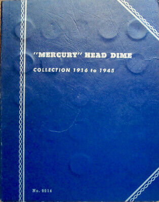 66 Different Dated or Mintmark Mercury Head Dimes Partial Set 1916-1945