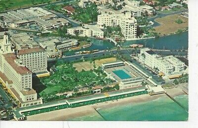 Postcard - FL - Florida Miami Beach Aerial View Posted 1957 in Key West