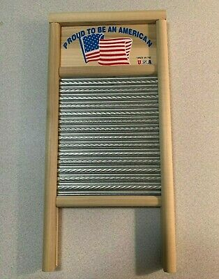 Columbus Wash Board Co. Stainless Steel Washboard