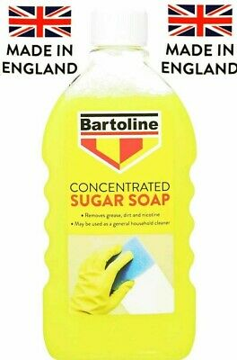 Flask Sugar Soap Concentrate Bartoline Mew 500Ml Removes Grease, Dirt & Nicotine