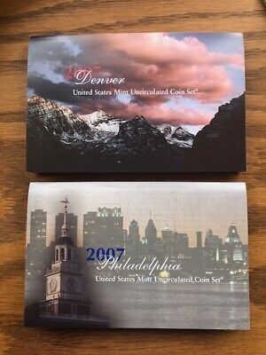 2007 US Mint ANNUAL Uncirculated P and D Coin Set 28 Coins Made in the USA