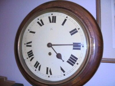 an edwardian era school wall clock