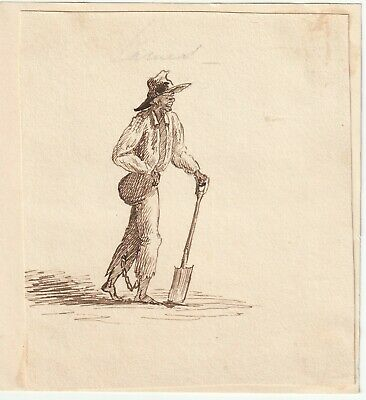 Early 19th century pen and ink drawing of a slave names James
