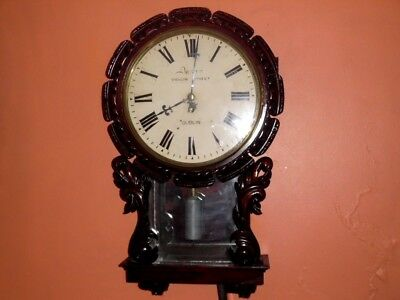 victorian fusee carved dublin wall clock