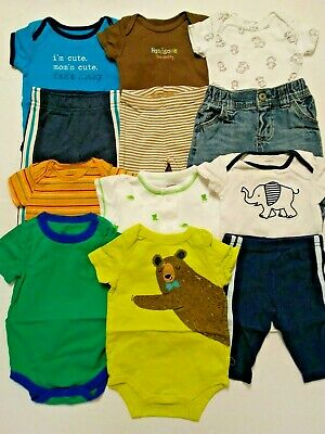 Baby Boy Size 3 Month Clothes Lot Carters Circo Oshkosh Jumping Beans Tops Pants
