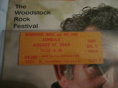 Woodstock 1969 *SUNDAY* Original Ticket, Aug 17, WAS AT THE SITE!!